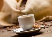 Aroma de cafe saco con granos